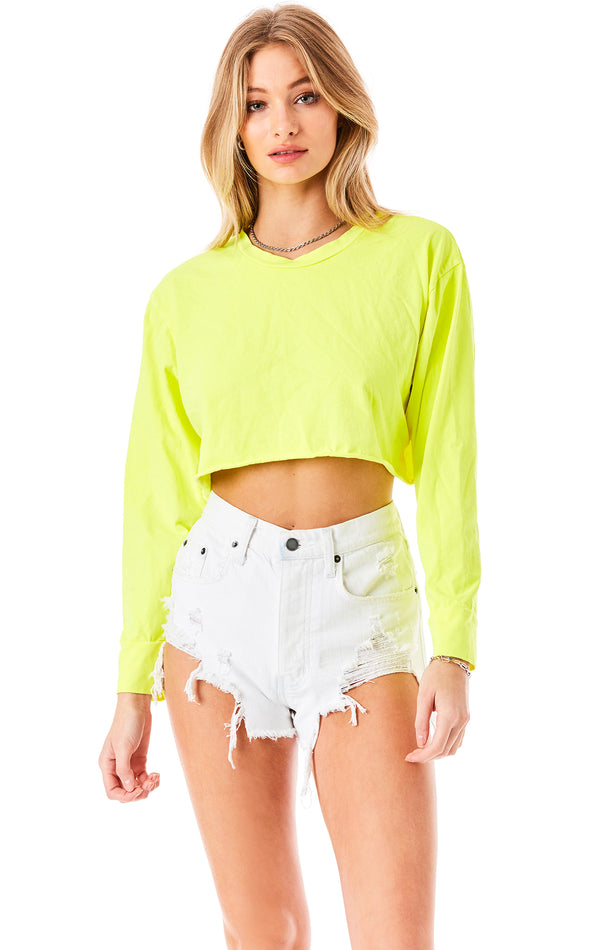 LONG SLEEVE CROP T-SHIRT