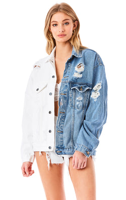 AUDREY SPLICED DENIM JACKET