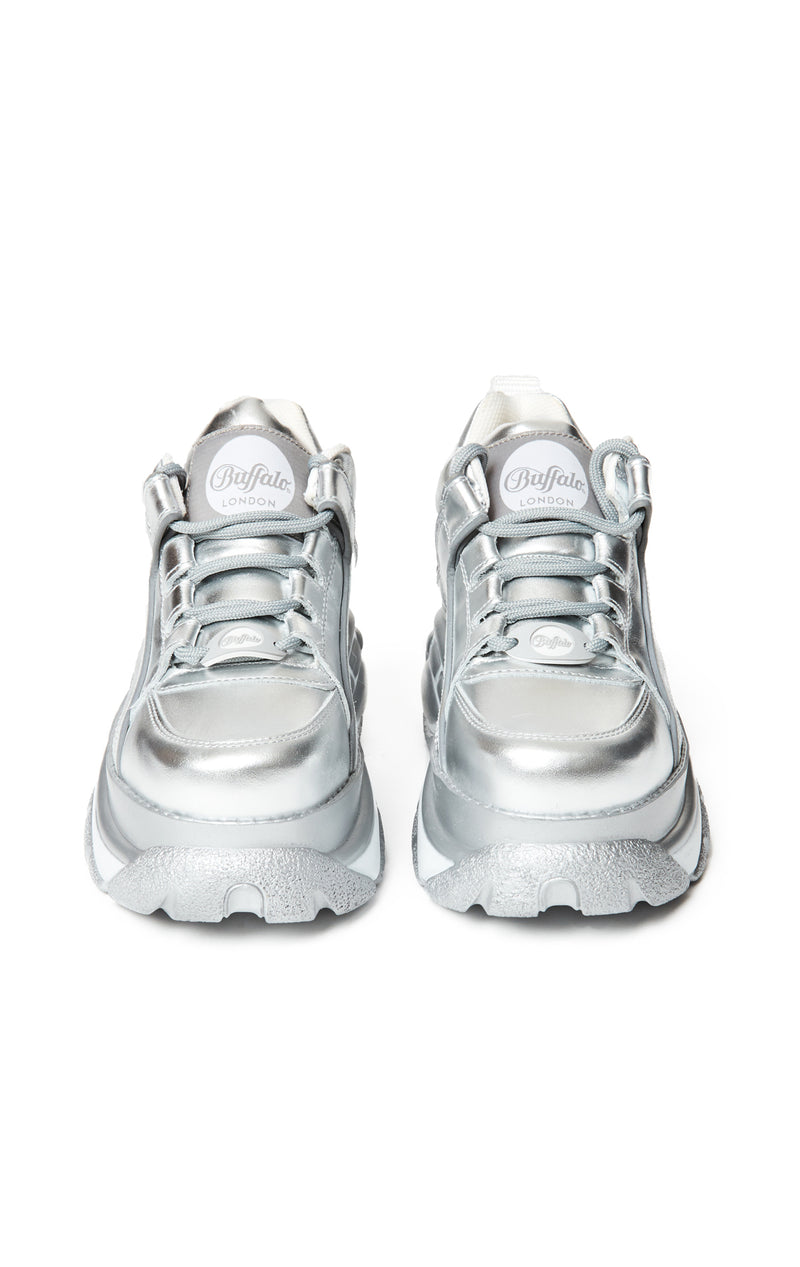BUFFALO LONDON METALLIC PLATFORM SNEAKER - SHOES