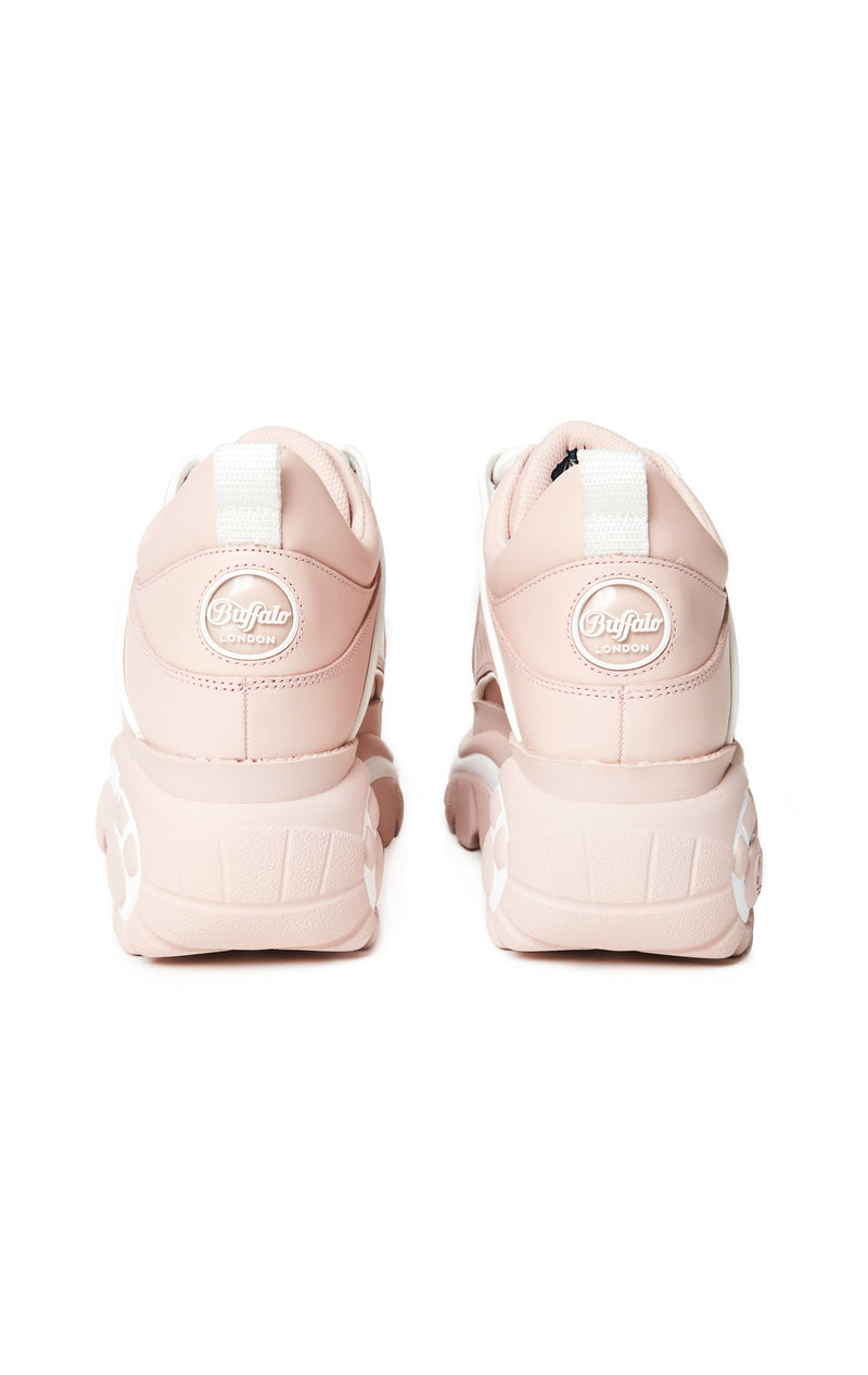 BUFFALO LONDON CLASSIC BABY PINK PLATFORM SNEAKER - SHOES