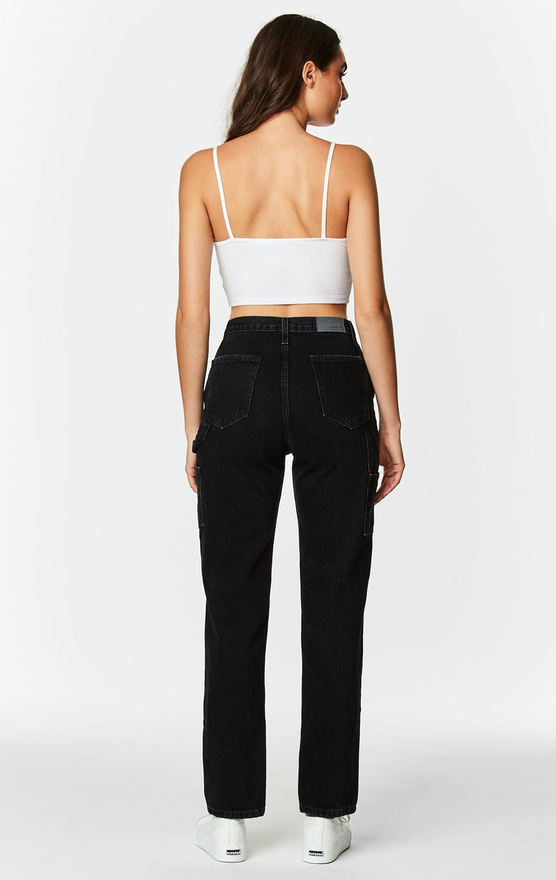 Carmar Denim: BLACK RHEA CARPENTER JEAN - PANT