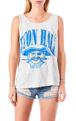 STONEWASHED COLLEGE TANK TOP