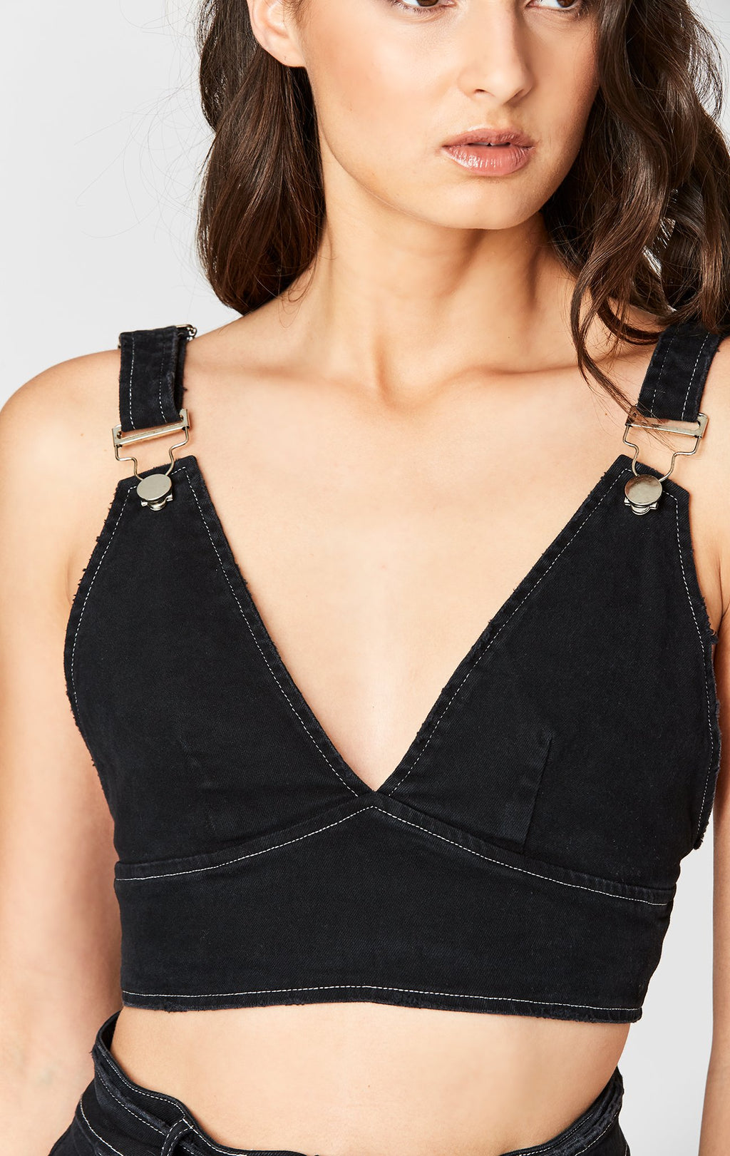 Carmar Denim: CLASP V-NECK BRA TOP - TOPS