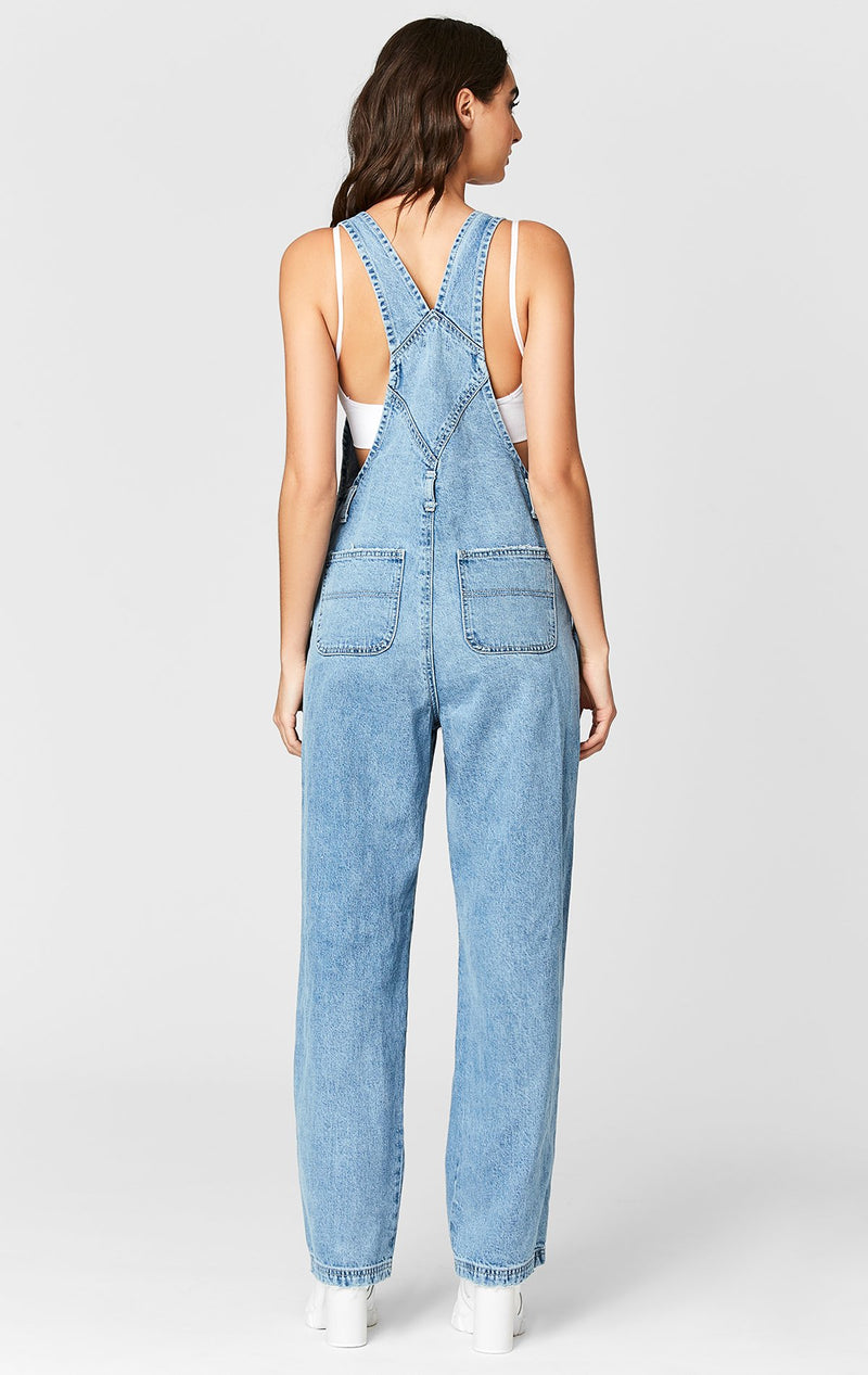 CARMAR DENIM GEMINI SHREDDED DENIM OVERALL BACK