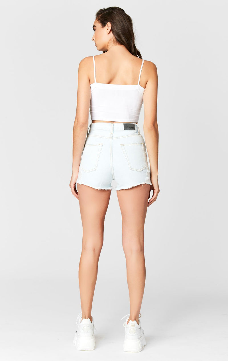 CARMAR DENIM KIANA VINTAGE HIGH RISE SHORT BACK