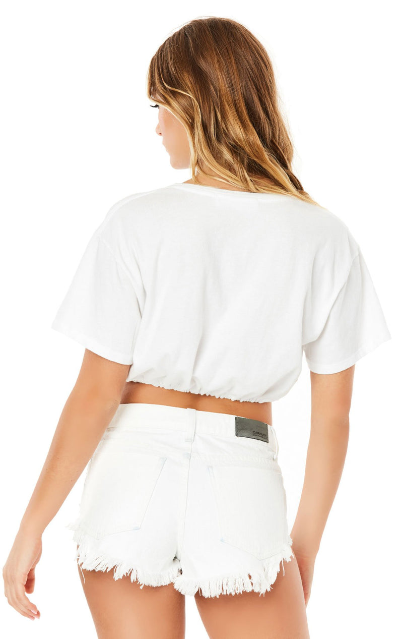 Emma & Sam: CINCHED CROP TEE - NOVELTY TEE