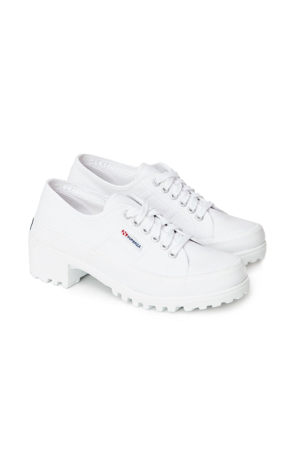SUPERGA SNEAKER WITH RUBBER HEEL ANGLE