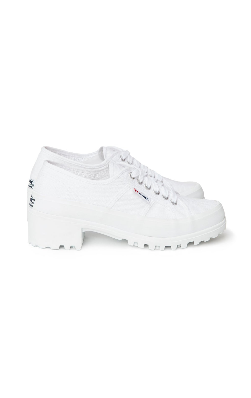 SUPERGA SNEAKER WITH RUBBER HEEL SIDE