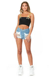 Emma & Sam: GROMMET TRIM TUBE TOP WITH BUNGEE STRAP - NOVELTY TANK