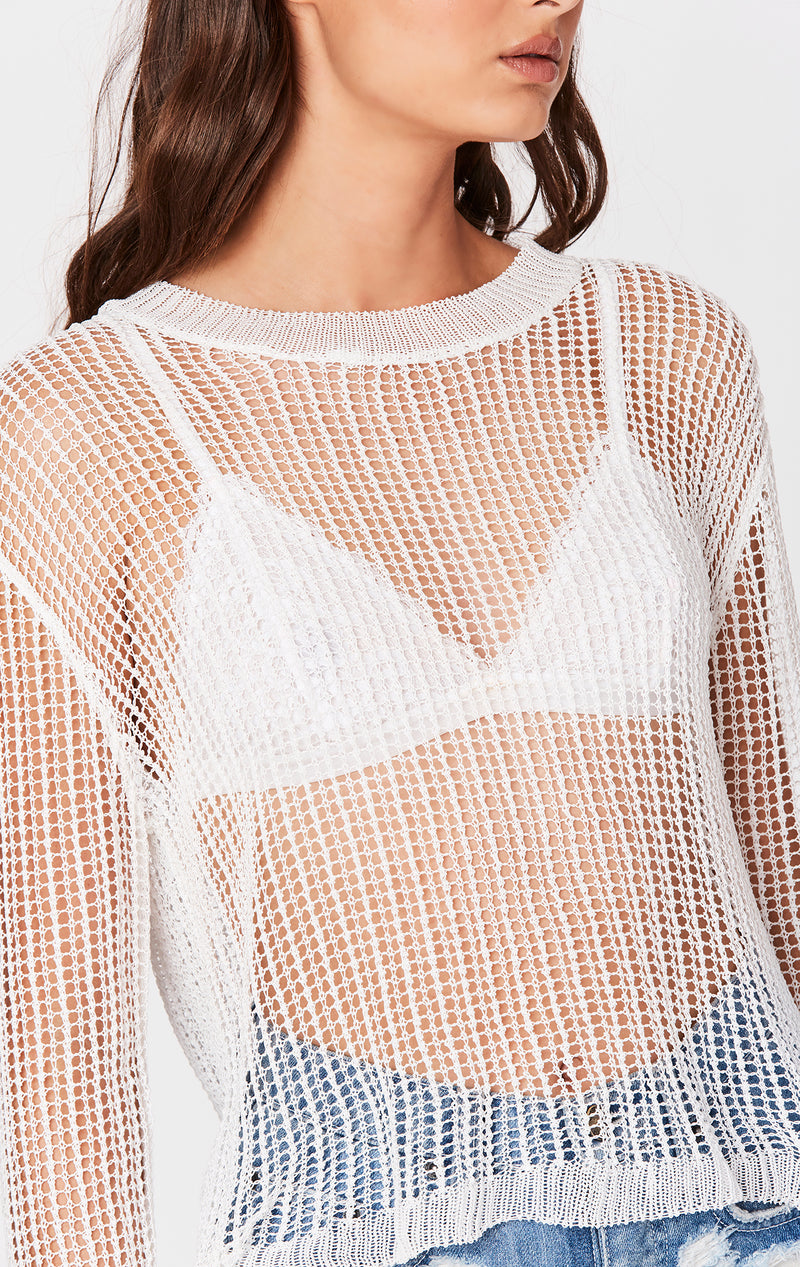 ALL OVER NETTING SWEATER