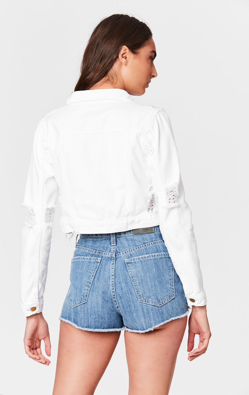 CARMAR DENIM WHITE CLAUDIS DENIM JACKET BACK