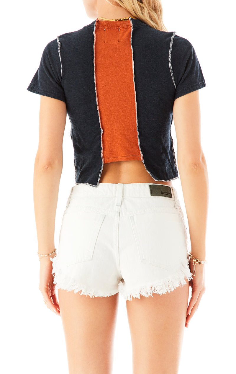 VINTAGE SPLICED CROPPED TEE