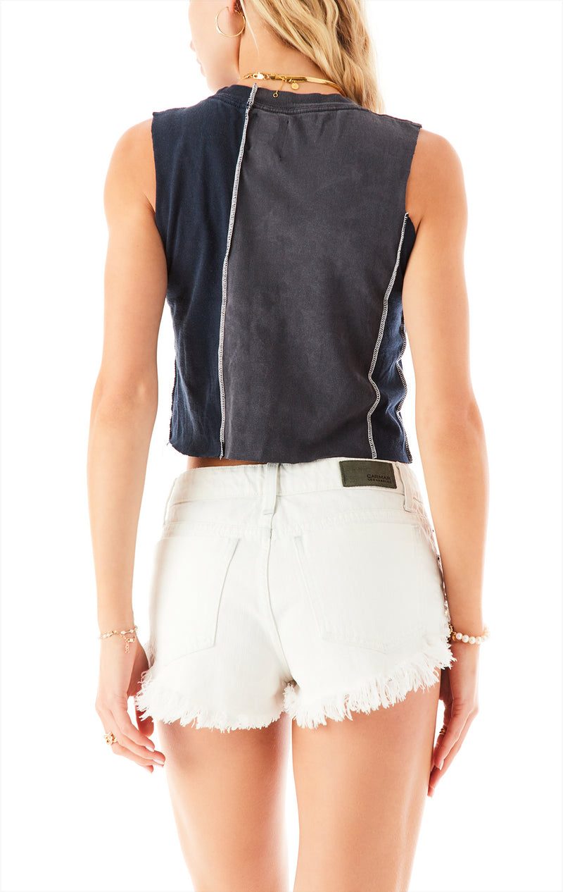 VINTAGE SPLICED CROPPED TANK TOP