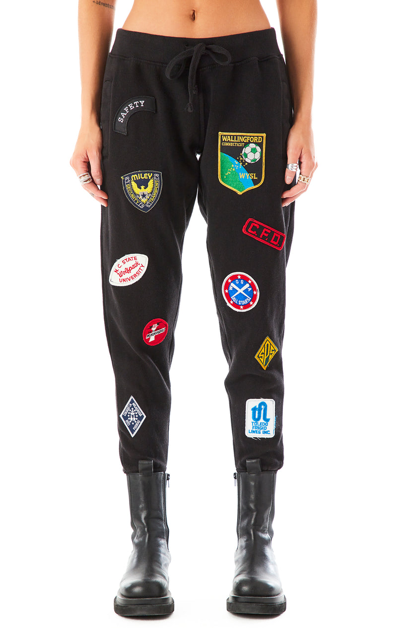 VINTAGE PATCH SWEATPANTS BLACK