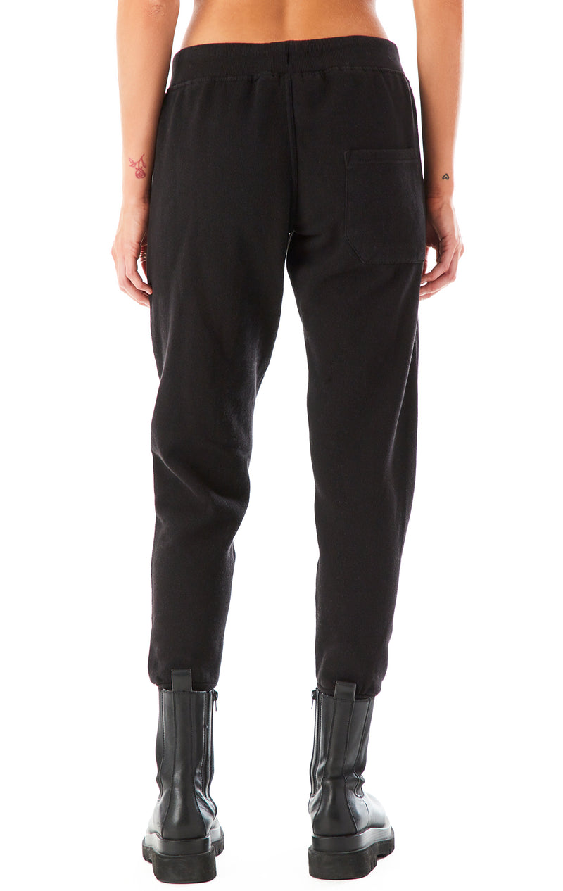 VINTAGE PATCH SWEATPANTS BLACK 2