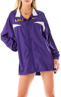 VINTAGE ZIP UP WINDBREAKER JACKET LSU