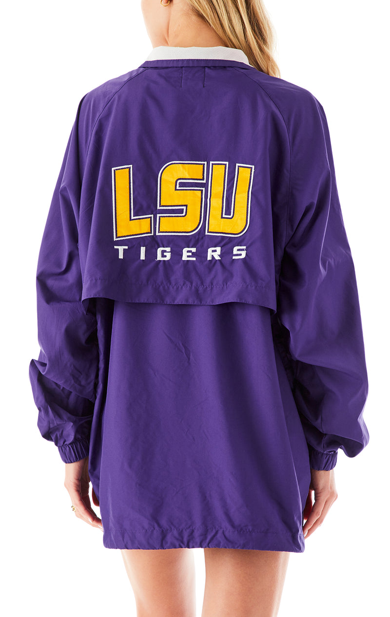 VINTAGE ZIP UP WINDBREAKER JACKET LSU 1