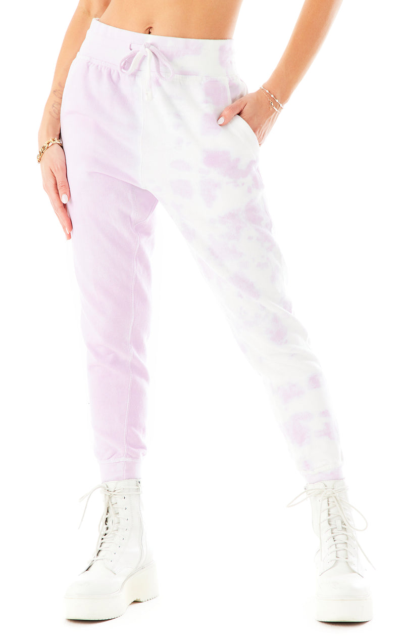 DIAGONAL DIP DYE SWEATPANTS