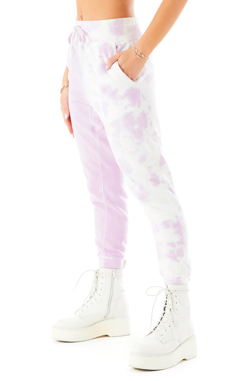 DIAGONAL DIP DYE SWEATPANTS 4