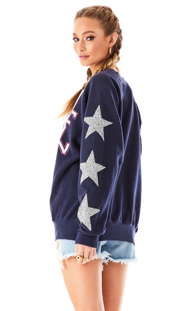 VINTAGE SILVER STAR PATCH SWEATSHIRT