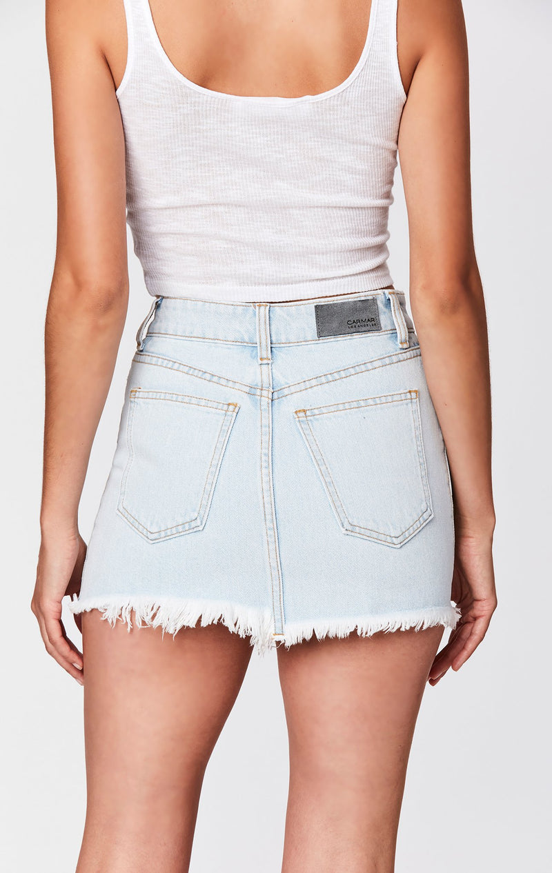 CARMAR DENIM NASH SUPER SHRED COLIN SKIRT BACK