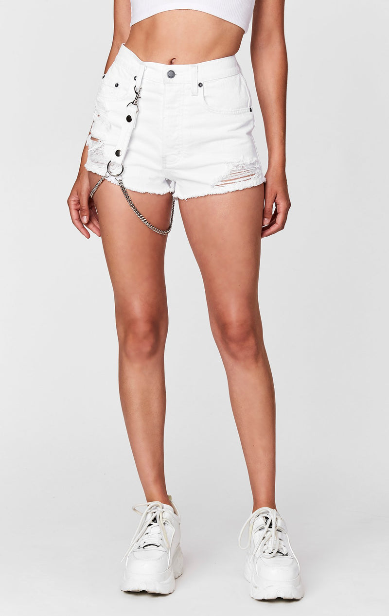 CARMAR WHITE TITANIA SHORT WITH HARNESS