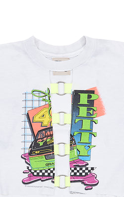 NEON O-RING CROP TEE CLOSE UP