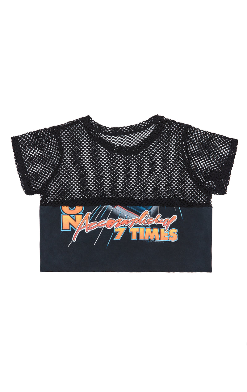 FURST OF A KIND GRAPHIC TEE WITH CONTRAST NETTING TOP BACK