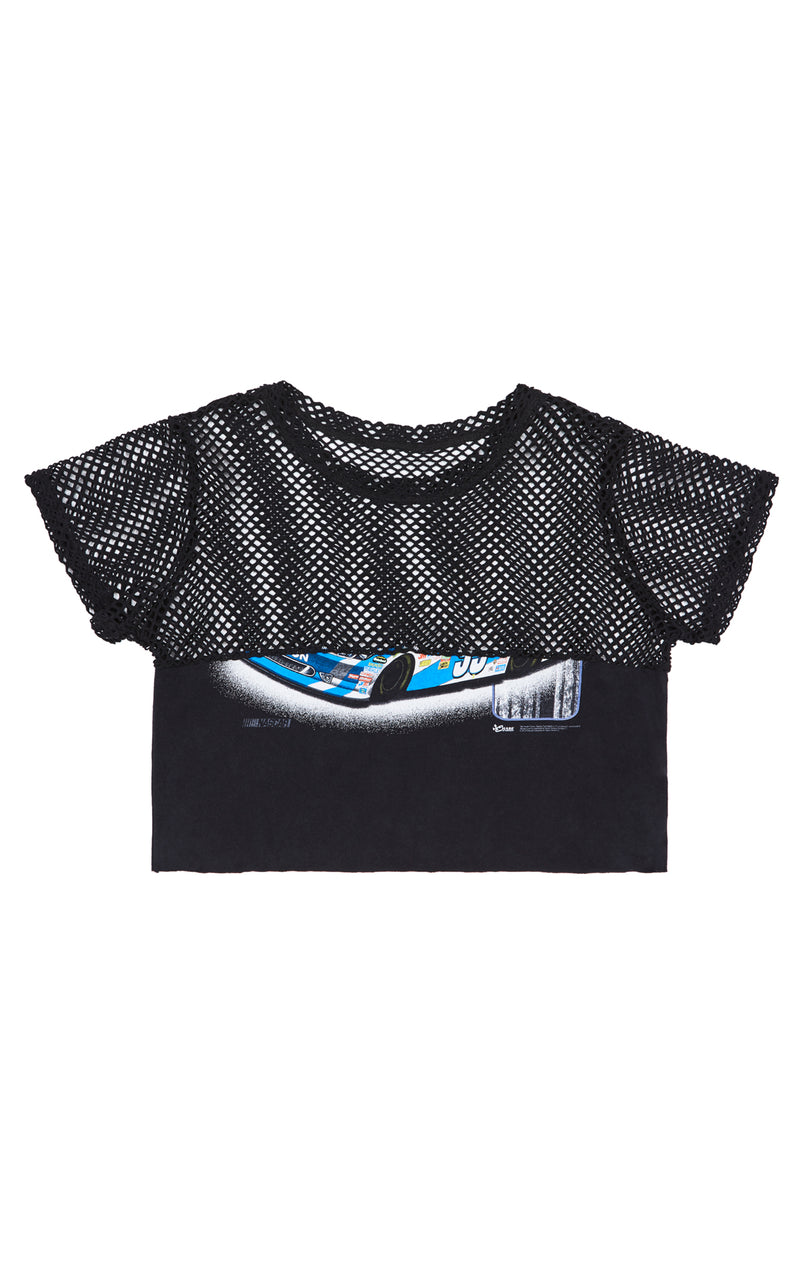 FURST OF A KIND GRAPHIC TEE WITH CONTRAST NETTING TOP FRONT