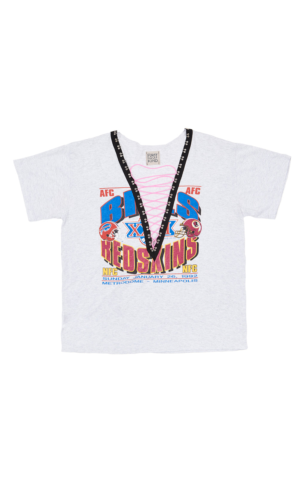 FURST OF A KIND NEON LACE UP BUNGEE TEE FRONT