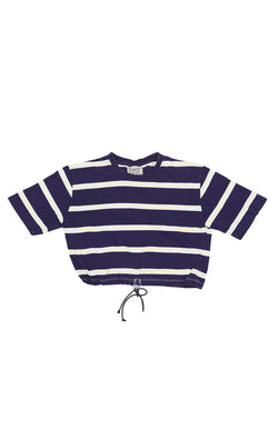 FURST OF A KIND STRIPE CROP TEE WITH TOGGLE