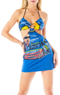 VINTAGE CUT OUT HALTER DRESS JEFF GORDON