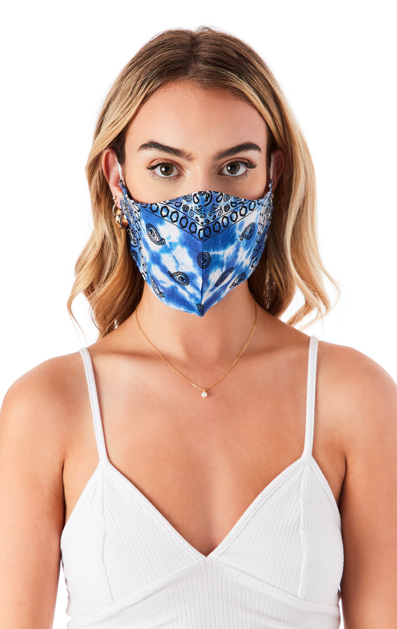 ASSORTED TIE DYE BANDANA FACE MASKS