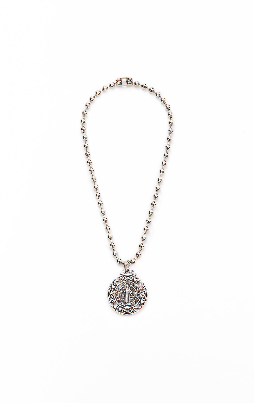 BALL CHAIN WITH LARGE BENEDICT CHARM