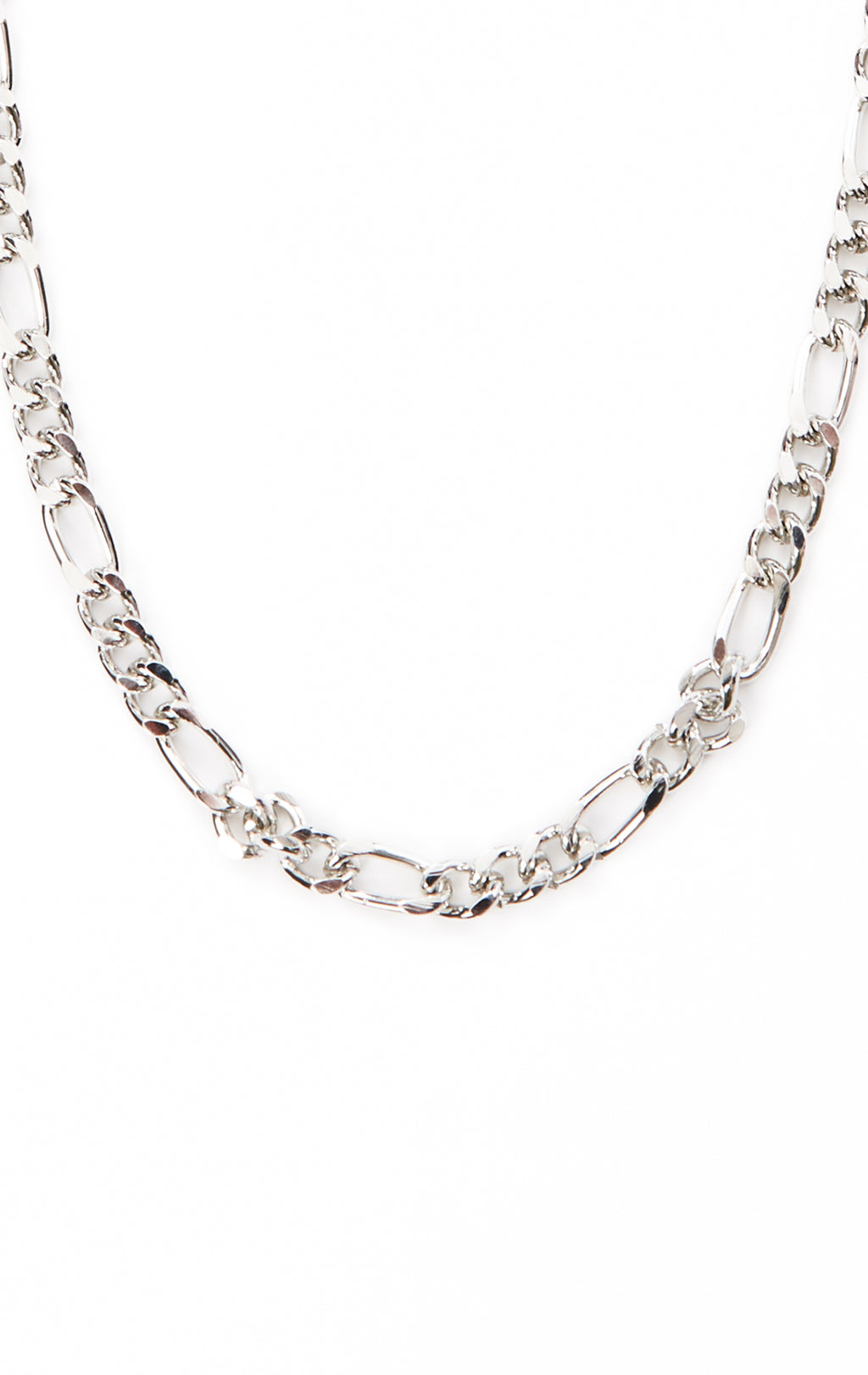 LARGE FIGARO CHAIN LARIATE NECKLACE