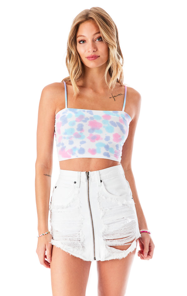 SPLOTCH TIE DYE TANK TOP