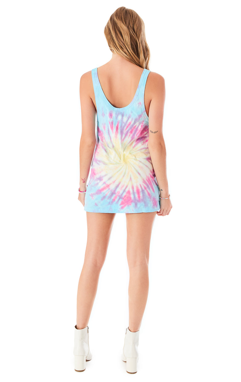 FIREWORK TIE DYE TANK DRESS