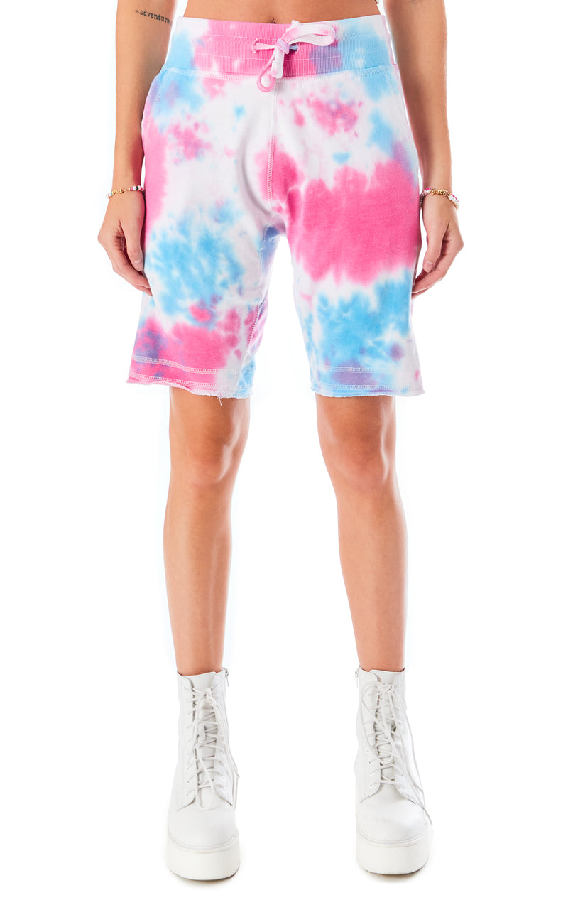 SPLOTCH TIE DYE SWEAT SHORT