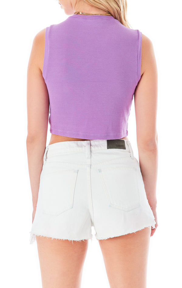 SLEEVELESS CROP T-SHIRT