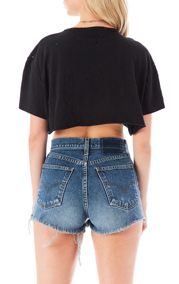 PIN LADDER FRONT CROP T-SHIRT