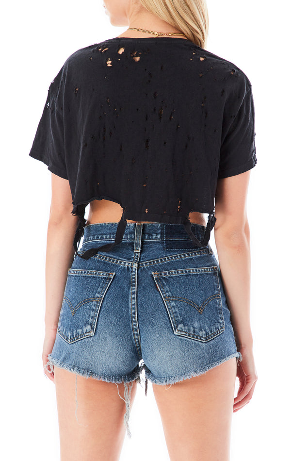 RIPPED CROP TEE