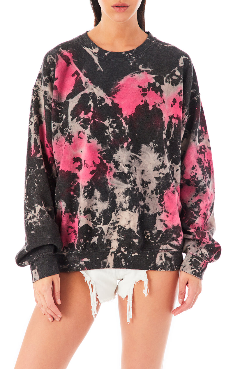 CLOUD TIE DYE CREW NECK SWEATSHIRT
