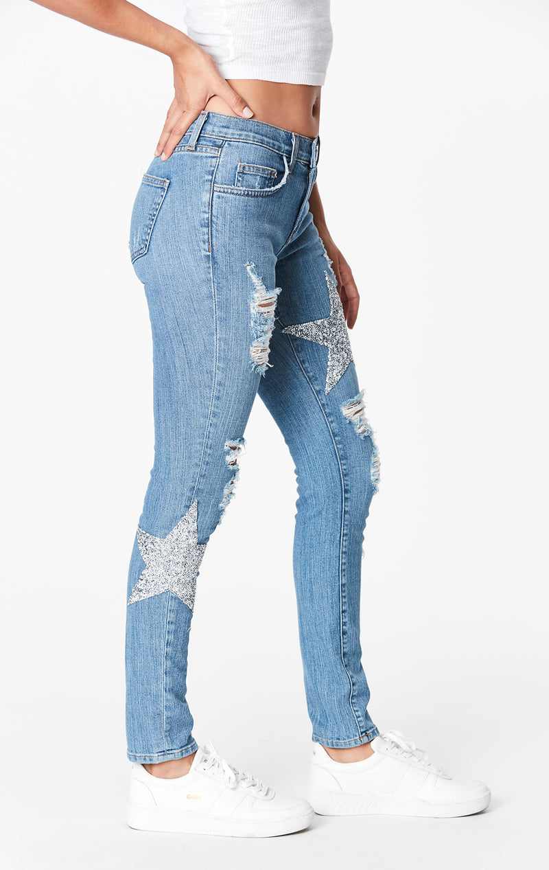 RHINESTONE STAR PATCH MIA JEAN