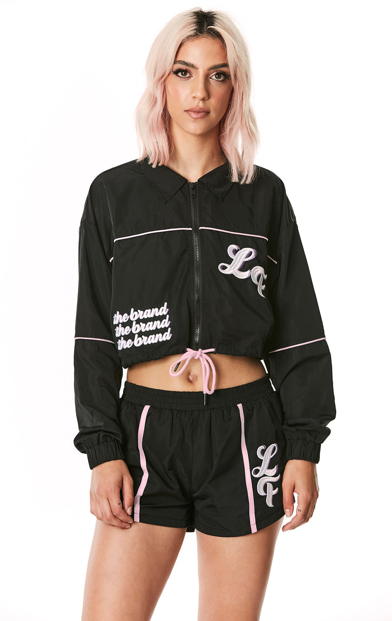 ZIP UP DRAWSTRING WINDBREAKER JACKET