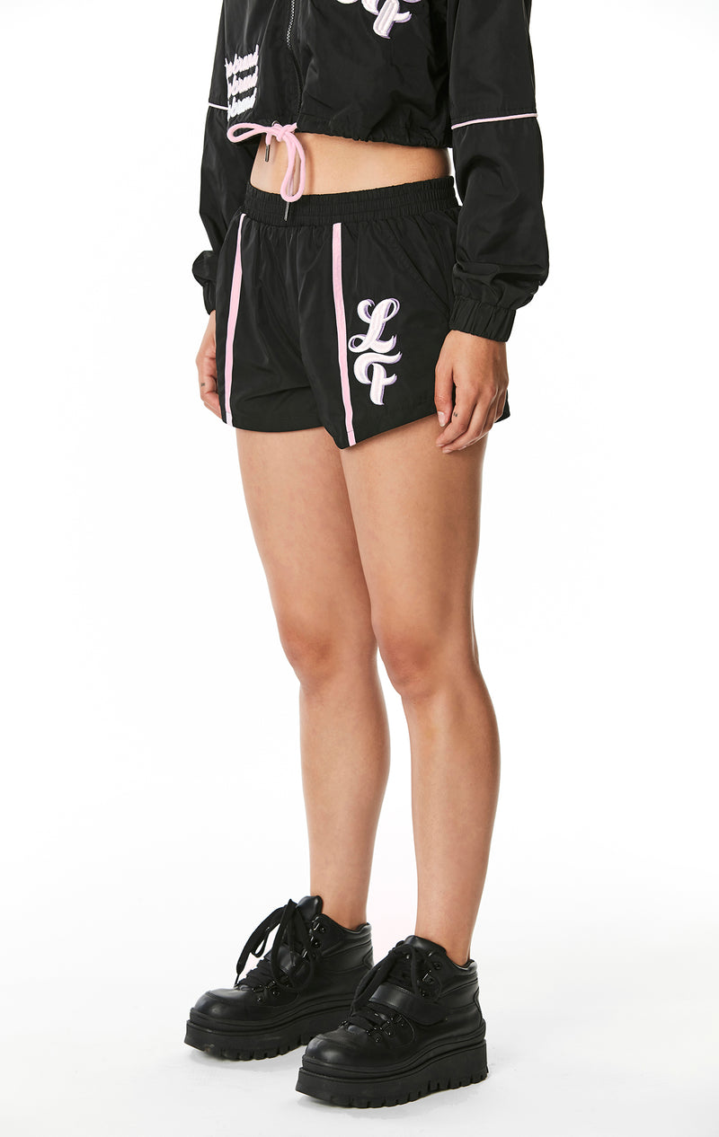 WINDBREAKER SHORT WITH EMBROIDERY
