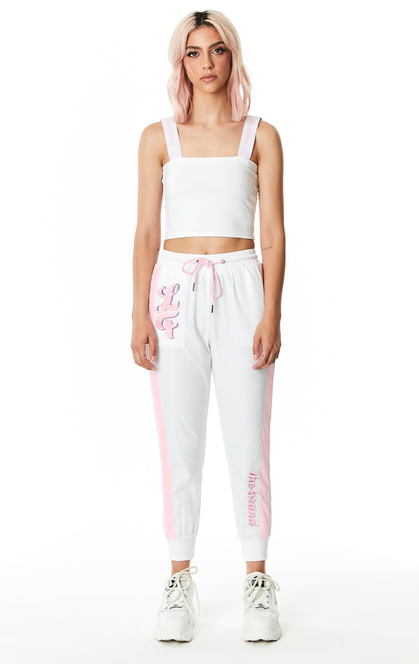 DRAWSTRING WINDBREAKER PANT WITH EMBROIDERY