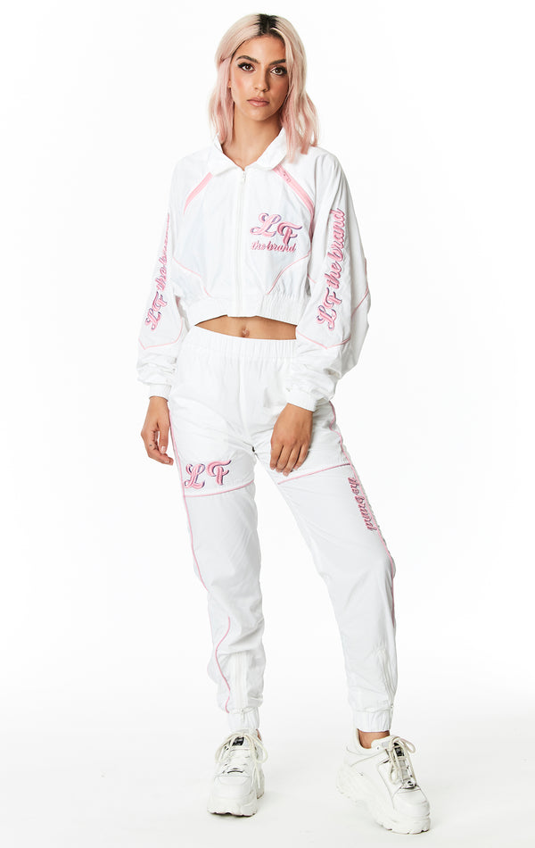 ZIP BACK WINDBREAKER PANT WITH EMBROIDERY FULL BODY