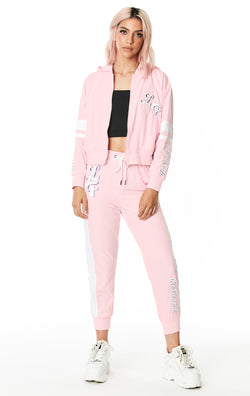 DRAWSTRING WINDBREAKER PANT WITH EMBROIDERY FULL BODY