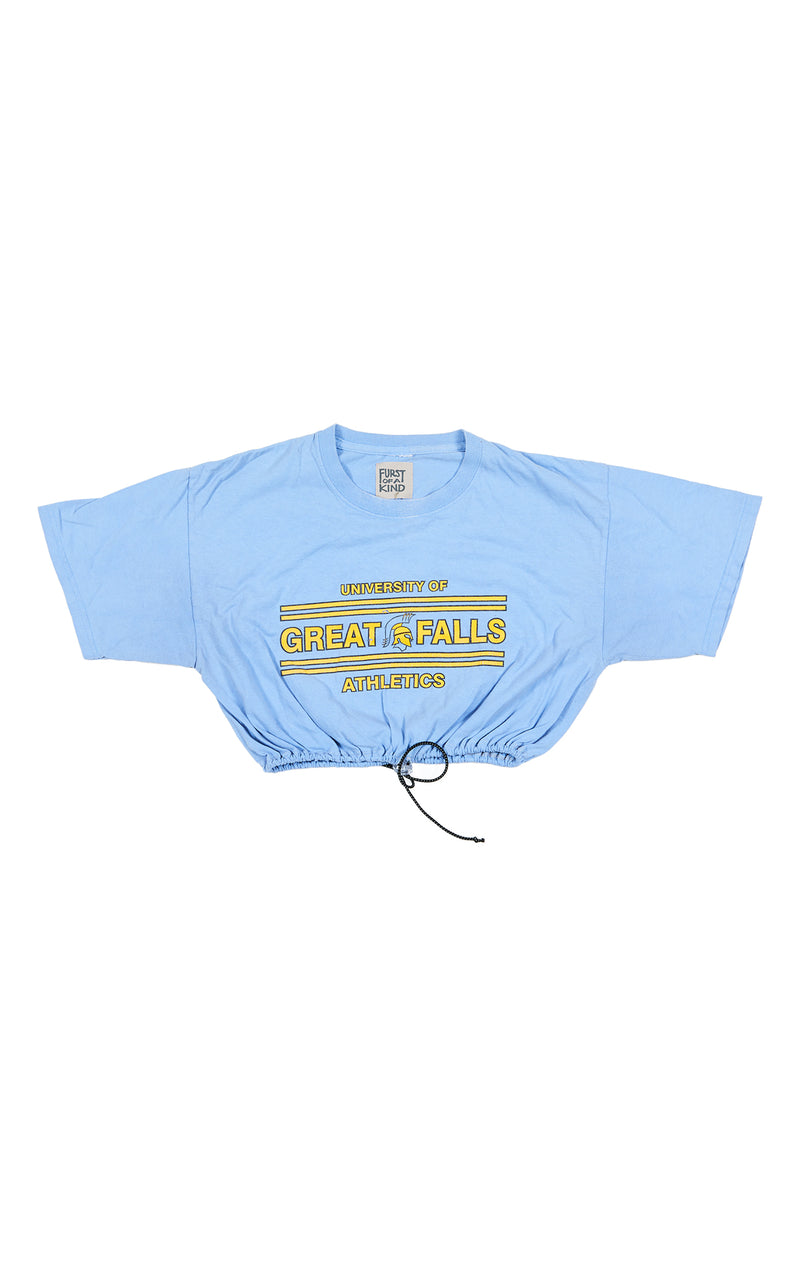 COLLEGE TEE WITH BUNGEE TOGGLE BOTTOM