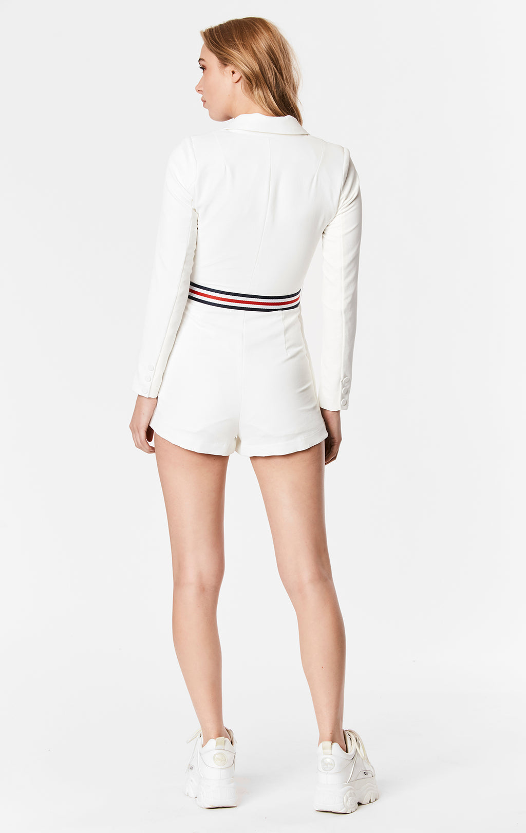 DOUBLE BREASTED JACKET PLAYSUIT WITH BELT